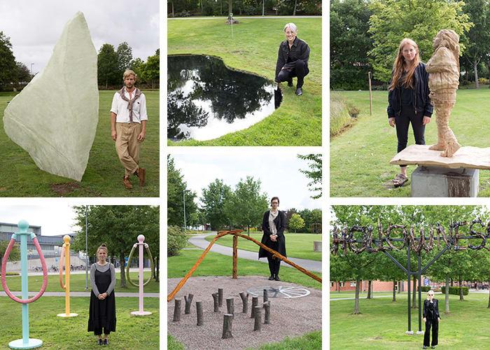 Konstutställningen Permanens IV invigd med sex nya konstverk från konststuderande