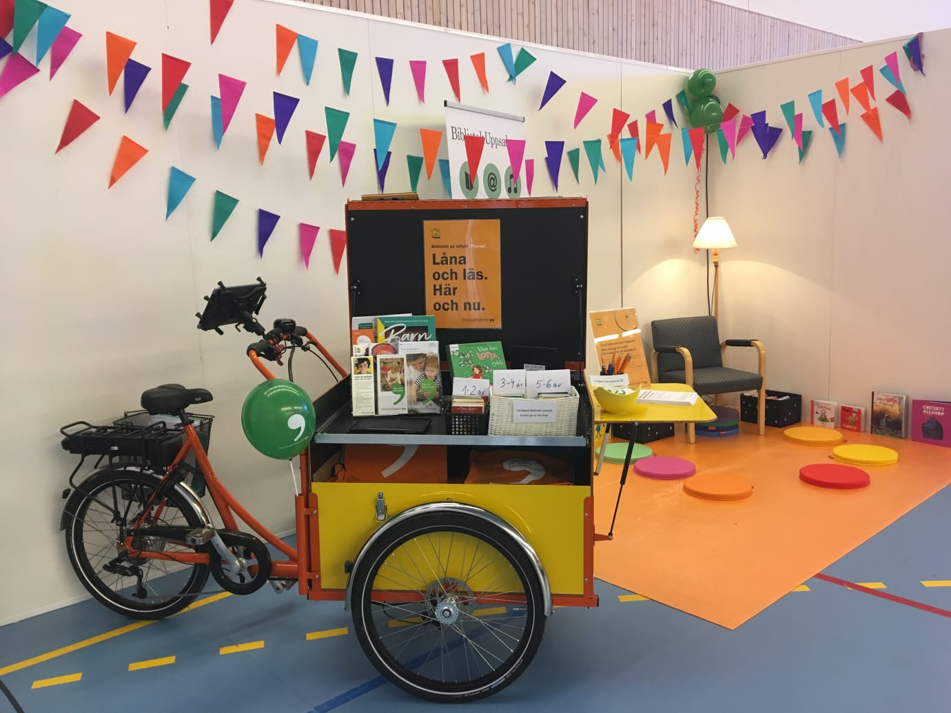 Bibliotek Uppsala lanserar rullande pop up-bibliotek
