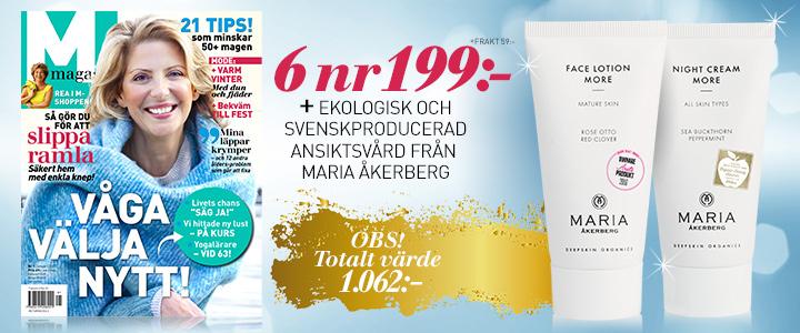 Ansiktskrämer från Maria Åkerberg premie