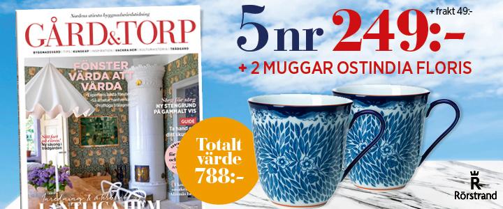 Gård och Torp Ostindia Floris - en modern klassiker från Rörstrand