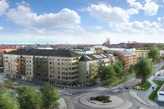 Peab bygger bostadsrätter åt HSB i Uppsala